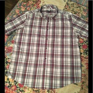 George ss plaid shirt LNC size Large